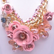 Girl-Era-Blooming-Summer-Flowers-Stainless-Steel-Jewelry-Fine-Crystal-Chain-Necklacespink1-0