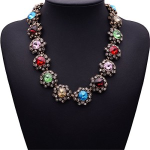 Girl-Era-Colorful-Gems-Of-Stars-Choker-Necklace-Charm-Necklace-For-Womensred-0