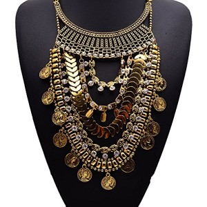Girl-Era-Popular-Vintage-Multi-Coin-Chain-ChokerCrystal-Chunky-Drop-Bib-Necklace-For-Womens-0