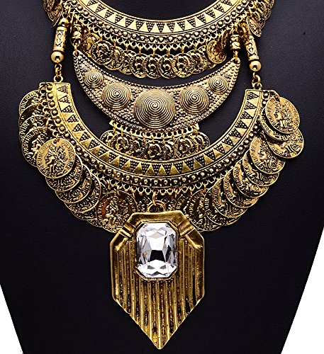 Girl era womens luxury vintage portrait coin jewelry big crystal big crystal pendant necklace sale mozeypictures Gallery