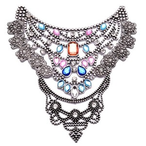 Girl-Era-Womens-Weeding-Party-Luxury-Multi-Crystal-and-Metal-Bead-Choker-Charm-Necklace-0