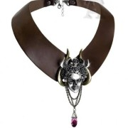 Greek-Goddess-of-Deception-Sinister-Mask-Apates-Duplicity-Leather-Choker-Necklace-By-Alchemy-Gothic-0