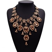 Gril-Era-Evening-Party-Luxury-Colorful-Rhinestone-Crystal-Chain-Teardrop-Shape-Bib-Temperament-Necklace-Womensgold-0-1