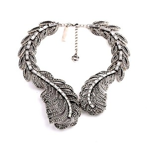 Kaariag-Punkin-Crystal-Vintage-Style-Feather-Choker-Necklace-0