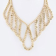 Karmas-Canvas-Rhinestones-Box-Chain-Layer-Collar-Necklace-Set-Gold-0