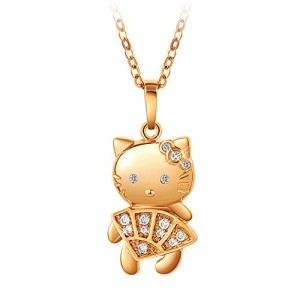 Smileforever-KT-Cat-Korean-Style-Short-Length-Collarbone-Necklace-0