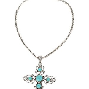 TS-Ethnic-Wind-Cross-Pendant-Carved-Turquoise-Necklace-0