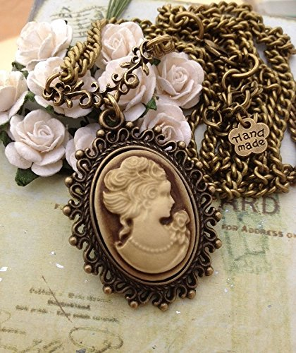 Vintage jewelry 1900s vintage cameo oval old antique bronze sale aloadofball